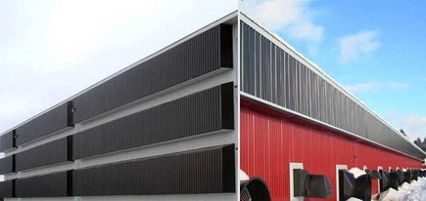 Duvara monte edilmiş güneş kollektörleri –Güneş kollektörleri ve hava tahliyesi