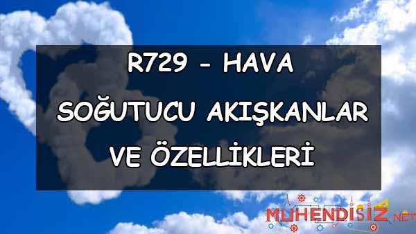 R729 Hava Özellikleri (Soğutucu Akışkan)
